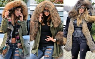 Джинсовая куртка с мехом женская