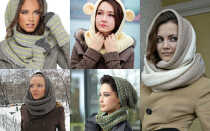 Как красиво завязать шарф на голове зимой