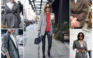 С чем носить пиджак в клетку женский, фото и видео