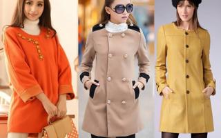 С чем носить пальто без воротника