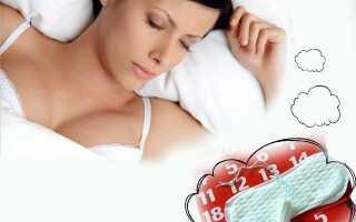 Что означает сон с месячными у женщины