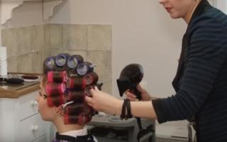 Как накрутить бигуди на короткие волосы, видео