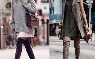 С чем носить ботфорты на каблуке