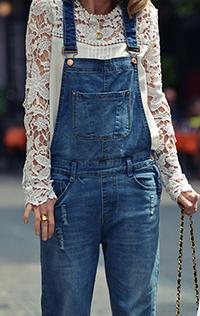 С чем носить комбинезон джинсовый, рекомендации стилистов