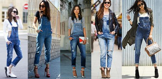С чем носить комбинезон джинсовый обувь