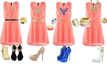 какие туфли к розовому платью