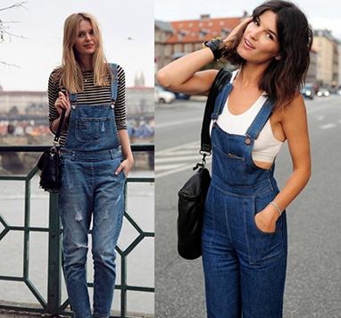 С чем носить комбинезон джинсовый