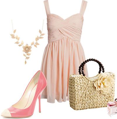 Какие туфли подойдут к розовому платью