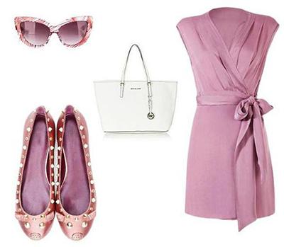 балетки к розовому платью