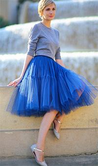 Юбка-пачка синяя