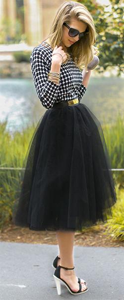 Юбка-пачка чёрная с чем носить