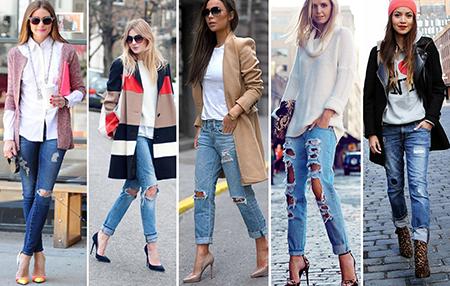 джинсы отлично подходят под кожаную или под короткую лёгкую куртку