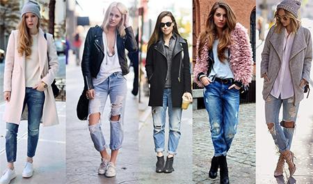 рваные джинсы, с чем носить