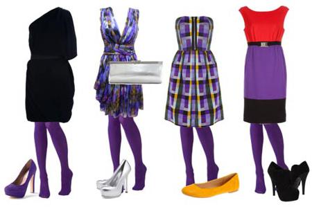 С чем носить цветные колготки, фотографии, советы профессионалов