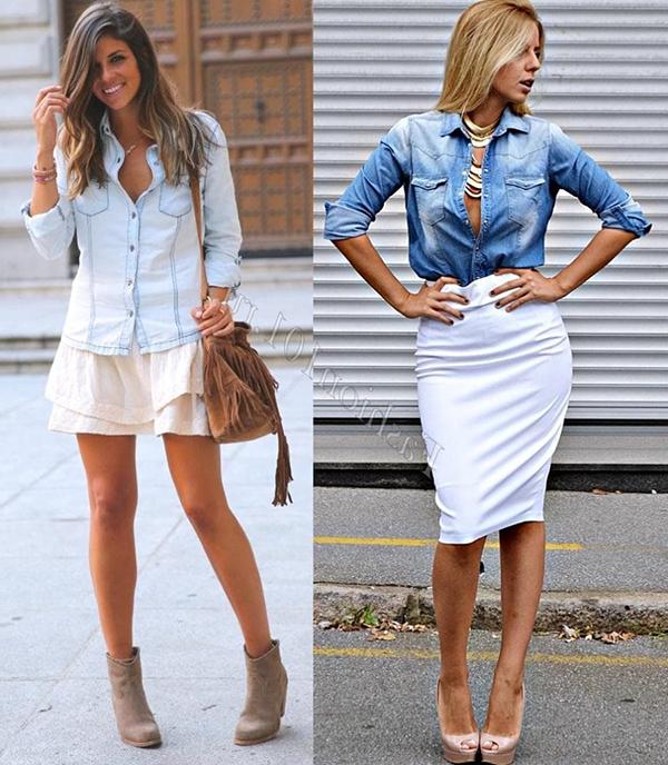 джинсовая женская рубашка