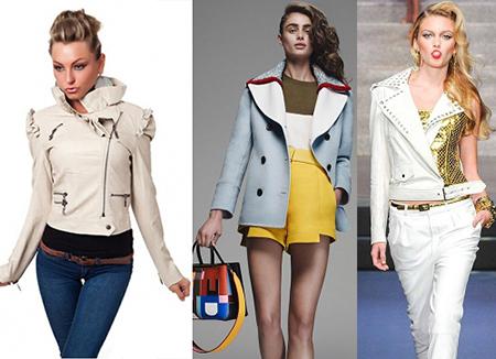 Кожаные, светлые куртки весна