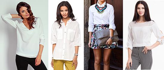 носить белую блузку