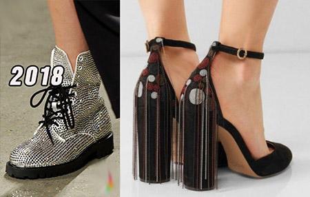 модная обувь со стразами