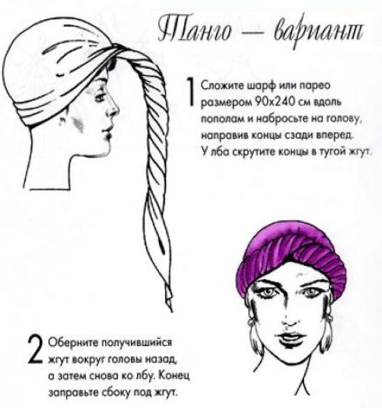 Как красиво завязать шарф на голове