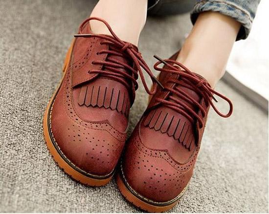 модная обувь оксфорды