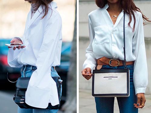 Широкая блузка с удлинёнными рукавами