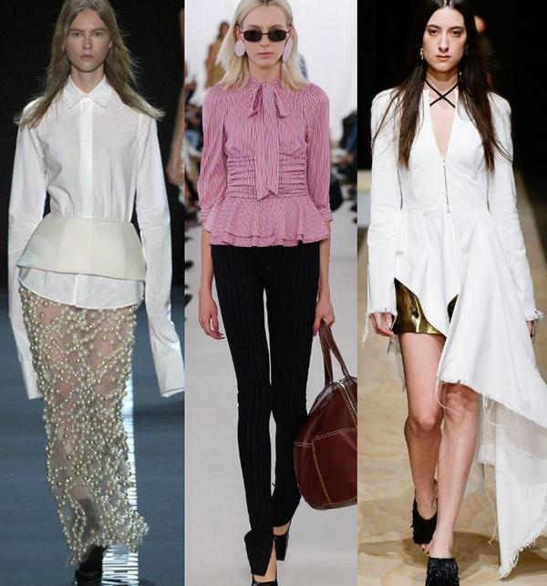 модные блузки с баской