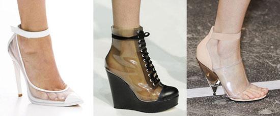 модная обувь из пластика