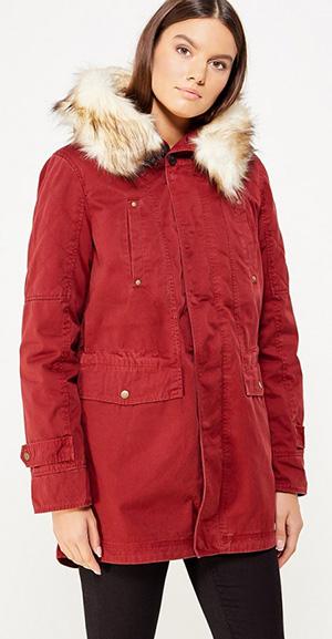 Куртка-парка на натуральном меху