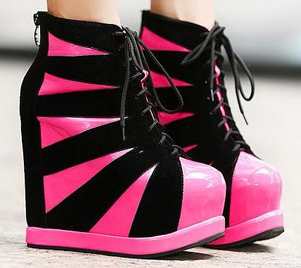 модная обувь с платформой и танкеткой