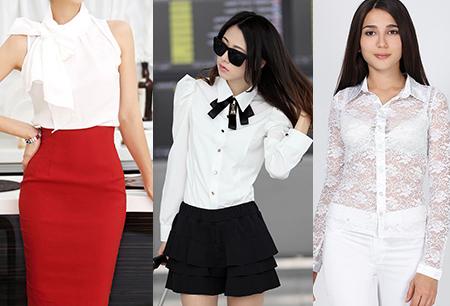 белая блуза летом