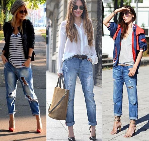 С чем носить джинсы бойфренды, фото