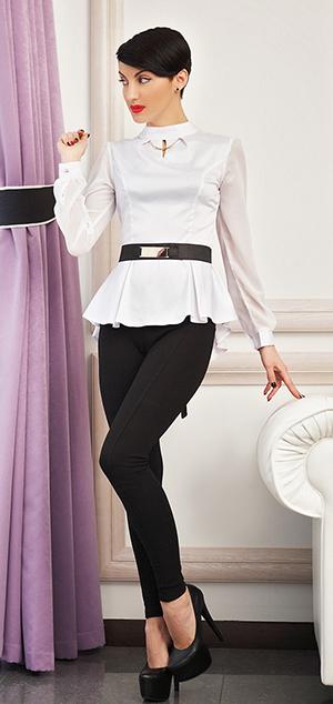 С чем носить белую блузку, советы стилистов, фото
