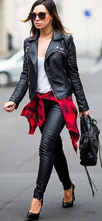С чем носить косуху женщине 40 лет