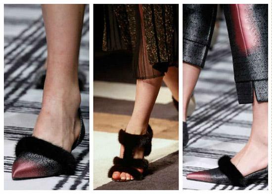модная обувь из меха