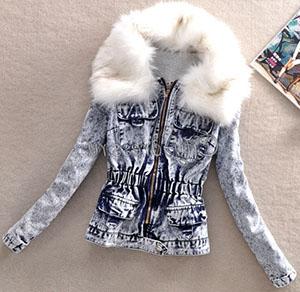женские куртки из обработанного денима