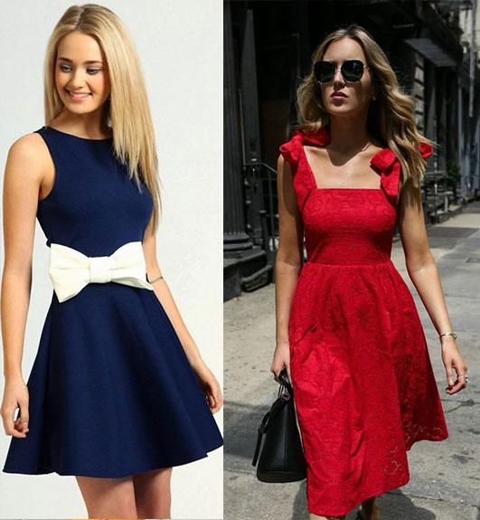 модные платья с воланами и бантами