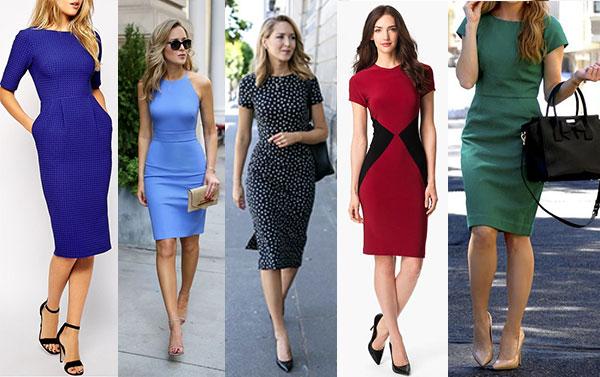 модные летние платья-футляры 2018 фото новинки
