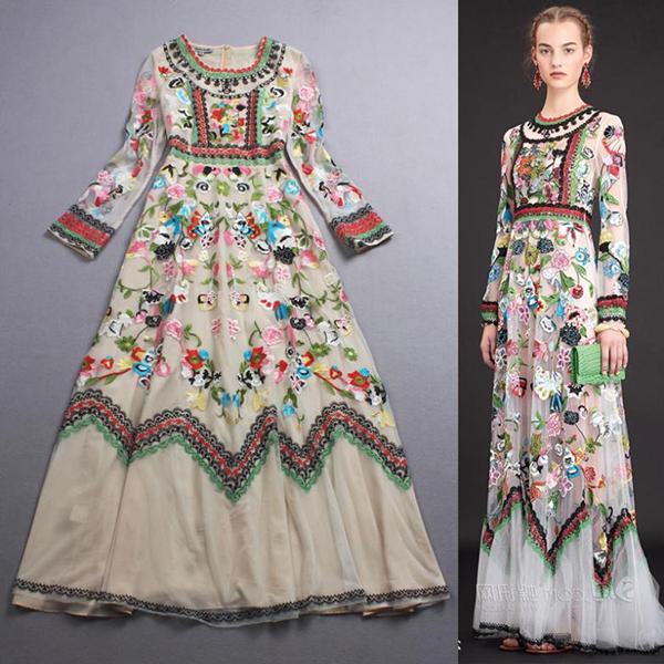модное летнее платье с принтом