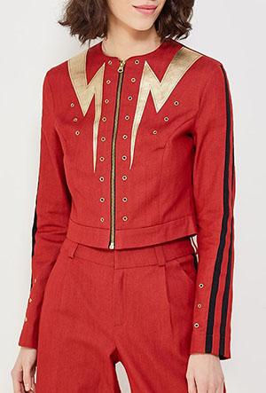Джинсовая куртка с мех