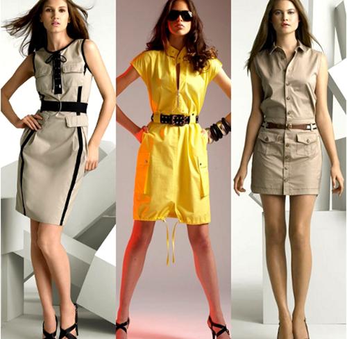 модные платья стиль сафари