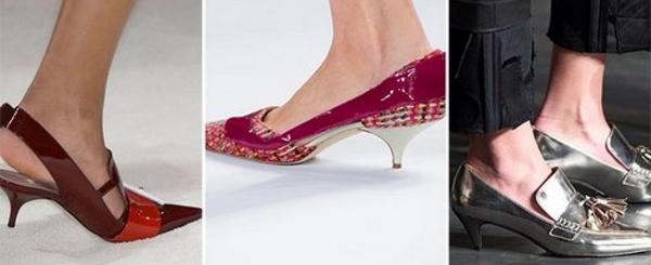 Туфли на каблуке рюмочка