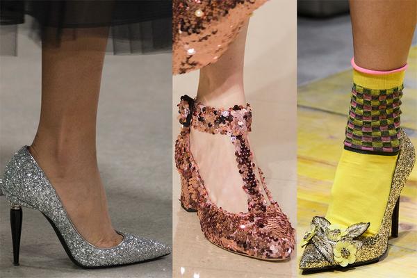Туфли с пайетками и блестками