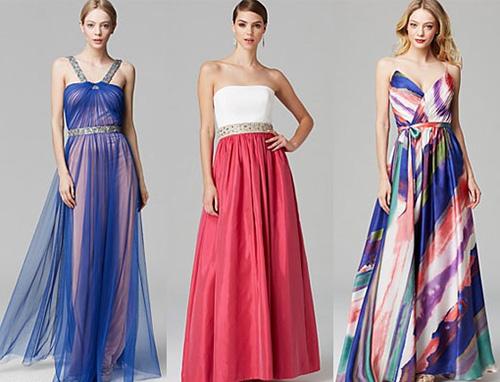 Фотографии вечерних платьев на свадьбу, для женщин с фигурой