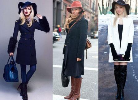Какой головной убор носить с пальто