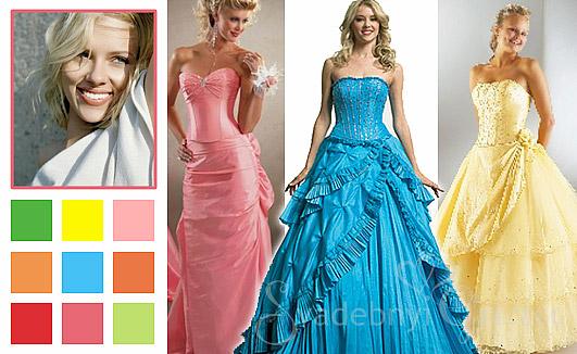 Коктейльные платья для весеннего цветотипа