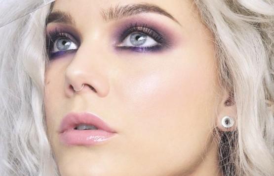 Макияж для пепельной блондинки с серыми глазами